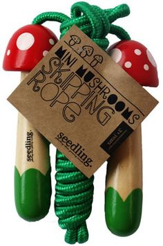 Mushroom Skipping Rope -- cute for gifts