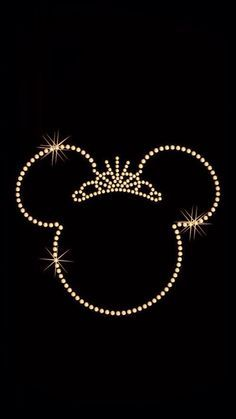 Disney iPhone wallpaper/Minnie gold>