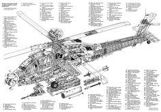 Apache Longbow AH-64D cutaway