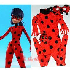 Bambini Zip Miracoloso Coccinella Cosplay Costume di Halloween Delle Ragazze Coccinella Marinette Bambino Lady Bug Spandex Completa Lycra Zentai Suit