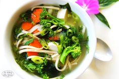 A healthy miso soup loaded with fresh veggies, udon noodles, and tofu.