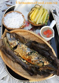Do you love Fish? Do you know eating Fish is really good for health, especially your eyes? Today, I will introduce a new way to cook one of Vietnamese Fish Recipes. It is Grilled Fish in Banana Leaves (Cá Nướng Lá Chuối). I promise that you will never regret when cooking this dish. It will bring a spectacular and Vietnamese traditional flavor in your mouth. (http://www.vietnamesefood.com.vn/vietnamese-recipes/)