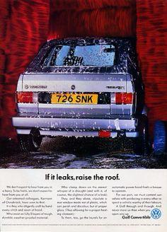 VW Golf Cabrio Ad