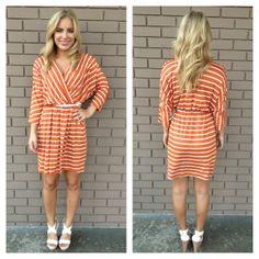 Creamsicle Jersey Stripe Pocket Dress with Belt
