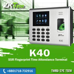 K40 is a 2.8-inch TFT screen Time Attendance & Simple Access Control Terminal. It has interfaces for third party electric lock and exit button. TCP/IP and USB Host make data management extremely easy. Most importantly,the built-in backup battery can eliminate the trouble of power-failure. With elegant appearance and reliable quality, you can get the best from it. Cctv Camera Price, Camera Prices, Access Control, Attendance, Third Party, Office Phone, Third Eye, Landline Phone, Locks