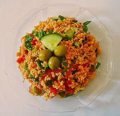 Kisir-türkischer Bulgursalat, ein leckeres Rezept mit Bild aus der Kategorie Gemüse. 59 Bewertungen: Ø 4,6. Tags: Camping, Gemüse, kalt, Party, Reis- oder Nudelsalat, Salat, Sommer, Türkei, Vegan, Vegetarisch, Vorspeise