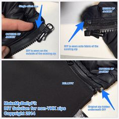 DIY zip for MakeMyBellyFit Jacket Extender