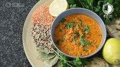 Red lentil soup with quinoa- Rote Linsensuppe mit Quinoa Our red one soup combines the protein-rich lentils with carrots, celery, quinoa and coconut milk. Mexican Food Recipes, Soup Recipes, Vegetarian Recipes, Healthy Recipes, Ethnic Recipes, Lentil Recipes, Red Lentil Soup, Vegetable Protein, Vegan Soup