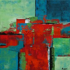 Nancy Eckels, California Abstract Artist on CFAI.co  $395.00  Perfect start for a collection  12 x 12 inches on deep canvas.