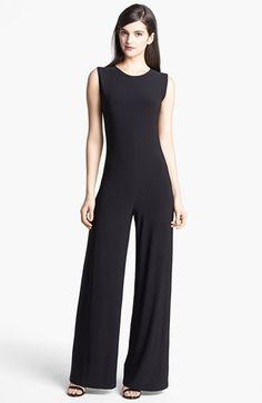 $99, Black Jumpsuit: Kamalikulture Wide Leg Jersey Jumpsuit. Sold by Nordstrom. Click for more info: http://lookastic.com/women/shop_items/53379/redirect