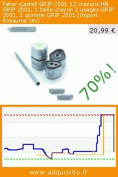 Faber-Castell GRIP 2001 12 crayons HB GRIP 2001, 1 taille-crayon 3 usages GRIP 2001, 1 gomme GRIP 2001 (Import Royaume Uni) (Fournitures de bureau). Réduction de 70%! Prix actuel 20,99 €, l'ancien prix était de 69,49 €. http://www.adquisitio.fr/faber/castell-grip-2001-12