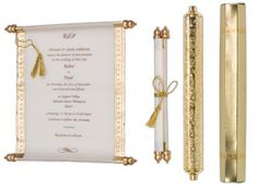 Handmade Royal Wedding Invitation