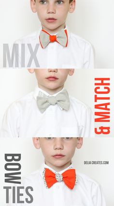 Mix and Match Bow Ties - free pattern! - Delia Creates