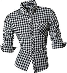Jeansian Men's Slim Fit Long Sleeves Casual Shirts 8523 Black S  Go to the website to read more description.