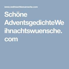 Schöne AdventsgedichteWeihnachtswuensche.com