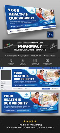 This Timeline Cover Template is well organized and structured. Images, texts and colors are fully. Facebook Cover Design, Facebook Cover Template, Facebook Timeline Covers, Health Snacks For Work, Medical Health Care, Free Followers, Flyer, Health Motivation, Social Media