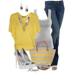 """""""Striped Tote"""" by anna-campos on Polyvore"""