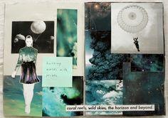 Fashion Sketchbook - wild nature print fashion design - concept development & visual research; fashion portfolio // Lina Michal