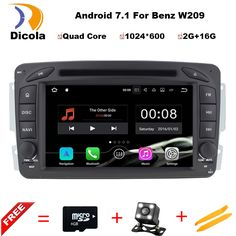 7 Inch Quad Core Android 7.11 CAR DVD player FOR MERCEDES-BENZ CLK W209 M W163 W639 car audio stereo Multimedia GPS Head unit #Affiliate