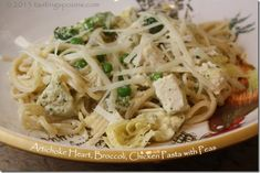 This is a lesson in what to do with left over Artichoke Heart  Lemon Dip. The recipe, posted yesterday, made more than I'd expected – there was about a cup left over. It became the base for this fantastic pasta to which I added chicken cubes, more artichoke hearts (cut in quarters), broccoli and [...]