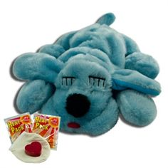 Your new pet will drift right off to dreamland after cuddling up with this Blue  It's a Boy Snuggle Puppie. They make a perfect gift for a friend expecting a new puppy too! Snuggle Puppies, with a new and improved heartbeat, are sure to capture you and your pet's heart! All ages of animals use our adorable Snuggle Puppie because they connect with the real feel heartbeat and gentle warmth.     Heartbeat with batteries and two types of heat included.