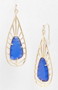 Kendra Scott 'Lyra' Teardrop Earrings.   Great for a pop of delicate colour!