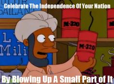 Funny memes of 4th July The Simpsons