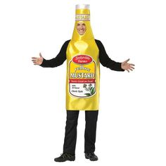 Halloween Mustard Bottle Body Tunic Adult Costume Heinz One Size Bodysuit  #TotallyGhoul #CompleteCostume