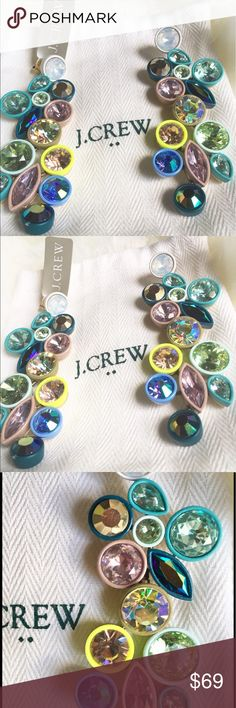 "💄NWT J. CREW SWAROVSKI CRYSTAL PASTEL EARRINGS💄 💄BRAND NEW J. CREW LONG SWAROVSKI PASTEL CRYSTAL EARRINGS~MAGNIFICENT HUES OF PINKS, YELLOWS, BLUE. APPROXIMATELY 4"" LONG. STUNNING!!!💄 J. Crew Jewelry Earrings"