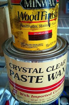 Aging Furniture with Paste Wax and Wood Stain