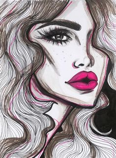 Those Lips #Fashion #Illustrations #FashionIllistrations @abrarzenkawi| Be inspirational❥|Mz. Manerz: Being well dressed is a beautiful form of confidence, happiness & politeness