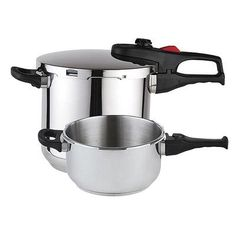 Discover the joy of fast cooking with theMagefesa Practika Plus Stainless Steel 3 Piece Pressure Cooker Set. It's also eco-friendly, as pressure cooking uses less energy and produces reduced emissions.
