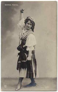 UDB Vintage Photo Postcard of Hungarian Actress Ferike Boros Gypsy Bohemian | eBay