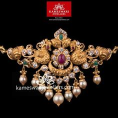 Stunning gold vanki designs by Kameswari Jewellers. Shop online from one of the foremost South India's traditional jewellers. Vanki Designs Jewellery, Jewelry Design Earrings, Gold Earrings Designs, Gold Jewellery Design, Necklace Designs, Gold Jewelry, Gold Necklace, Diamond Jewelry, Chocker Necklace
