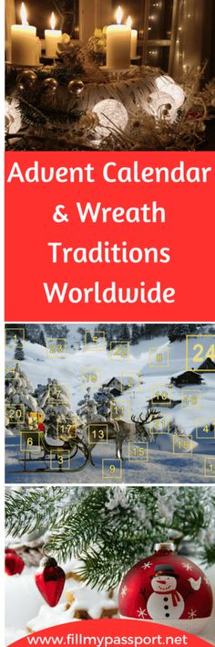 Check out our latest post on the Advent Calendar and Advent Wreath Christmas traditions from around the world. #christmas #adventcalendar #adventwreath #aroundtheworld