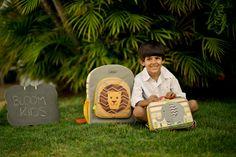 Linha de Acessórios da Bloom Kids  Mochila e lancheira Africa www.bloomkids.com.br