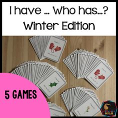 I Have Who Has Winter Edition 5 math games to keep your learners engaged! Addition, subtraction, multiplication and division Montessori Math, Montessori Elementary, Elementary Math, Multiplication And Division, Multiplication Facts, Math Stations, Math Centers, Fluency Practice