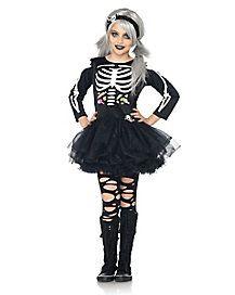 Girlu0027s Skeleton Costume | halloween ideas | Pinterest | Girls Skeletons and Ps  sc 1 st  Pinterest & Girlu0027s Skeleton Costume | halloween ideas | Pinterest | Girls ...