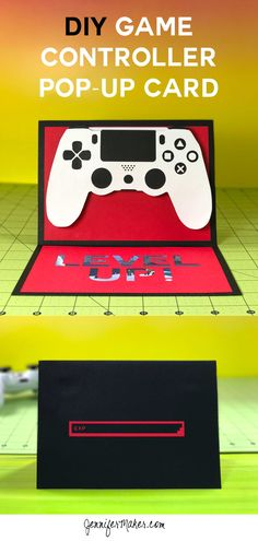 DIY Game Controller Birthday Card with Gift Card Holder Tutorial | Pop-Up Handmade Card | Cricut 3D Card | Gamer Birthday | Playstation controller | gamer birthday ideas | Playstation birthday | Level Up Card