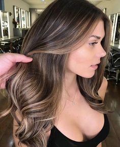 Brown hair with highlights #brownhair #haircolor