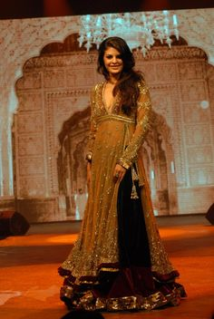 Manish Malhotra - best designer out there! Normally don't like long lengha but this is an exception.