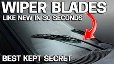 How to Make Windshield Wiper Blades Like NEW in 30 Seconds How to make - Reality Worlds Tactical Gear Dark Art Relationship Goals Clean Car Windshield, Hamilton, Wd 40 Uses, Car Wiper, Car Facts, Car Fix, Car Cleaning Hacks, Clean Your Car, Car Wash