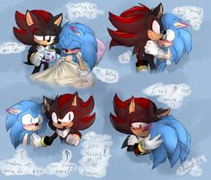 Overprotective (updated-colored) by ShadaleTheHedgehog on DeviantArt Shadow The Hedgehog, Sonic The Hedgehog, Sonic Fan Characters, Sonic And Shadow, Sonic Fan Art, Wings Of Fire, Sonic Boom, Pokemon Pictures, Disney Cartoons
