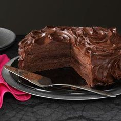 Triple Layer Brownie Cake Recipe from Taste of Home -- shared by Barbara Dean of Littleton. Colorado