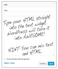 HTML tips for bloggers