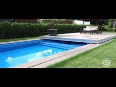 Automatische Schwimmbad Abdeckung Pool Terrassendeck - YouTube
