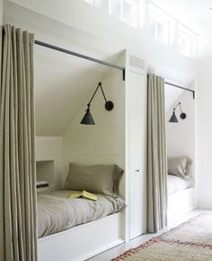 inspiring loft bedroom ideas- inspirierende Dachgeschoss-Schlafzimmer-Ideen Loft Ideas Inspiration for bedroom ideas can be found in your home small attic room The post 15 inspirational loft bedroom ideas appeared first on privacy screens. Closet Bedroom, Bedroom Storage, Bedroom Apartment, Bedroom Decor, Bedroom Ideas, Boys Closet, Bedroom Curtains, Attic Wardrobe, Ikea Bedroom