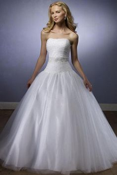 Robe de mariée à traîne Balayage en taffetas ornée de strass sans bretelle