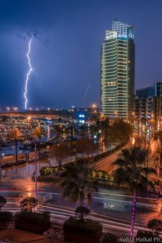 Storm in Zaitunay Bay, Beirut, Lebanon (January 2015).