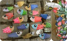 Handmade and handpainted SARDINE brooches. Very typical in Lisbon (Portugal)